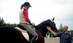 РАБОТА ПОВОДОМ в конном спорте.